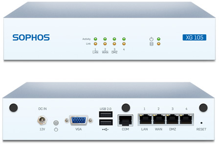 Sophos XG 105 Front and Back View