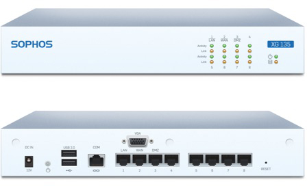 Sophos XG 135 Front and Back View